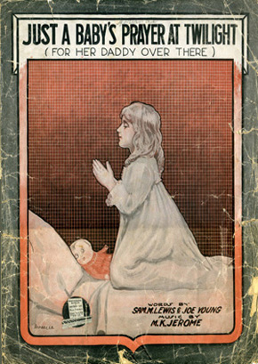 "Sheet music for ""A Baby's Prayer"""